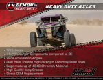 Demon Powersports Heavy Duty Axle 2008-2014 Polaris RZR 800
