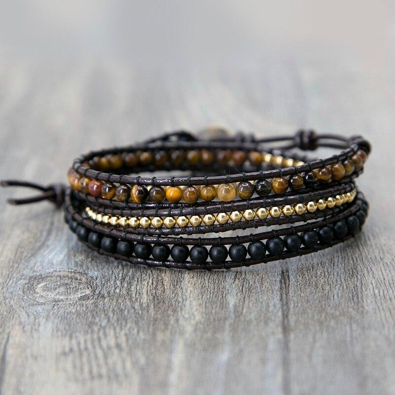Leder Tiger Eye Armband Myspirituals
