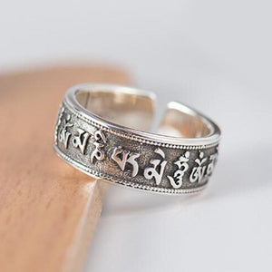 Zilveren Mantra Ring Myspirituals