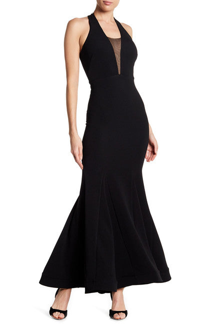 V-Neck Mermaid Gown