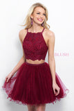 Lace Two-Piece Homecoming Dress