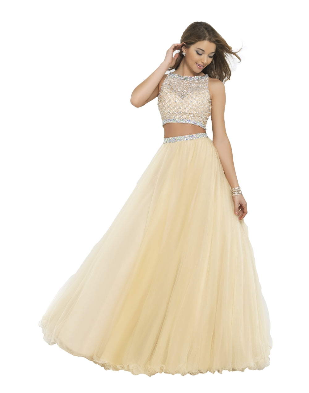 Two Piece Jeweled Ballgown