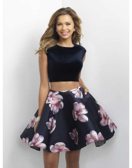 Crop Top Two-Piece Dress