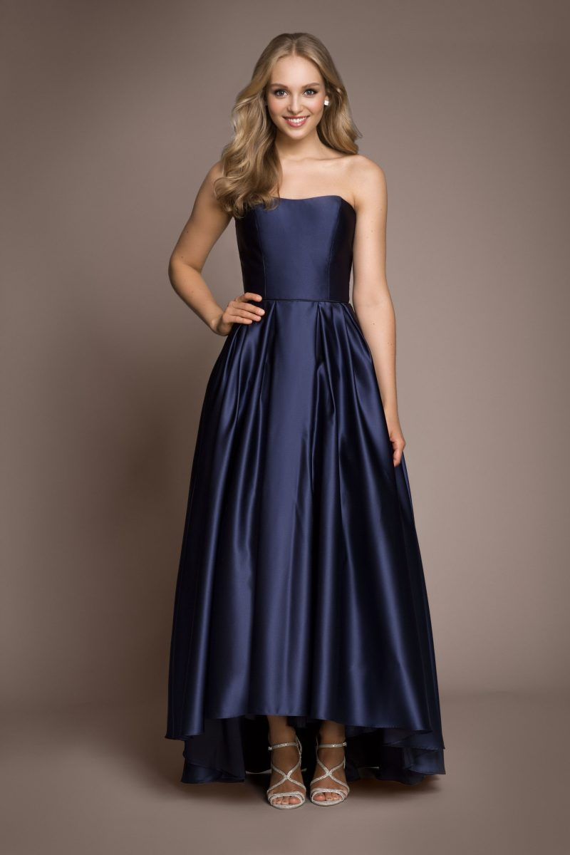 Strapless Hi-Low Ball Gown