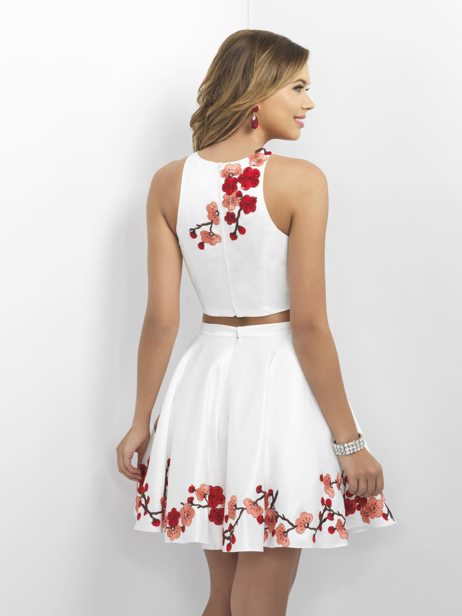 Embroidered Applique Two-Piece