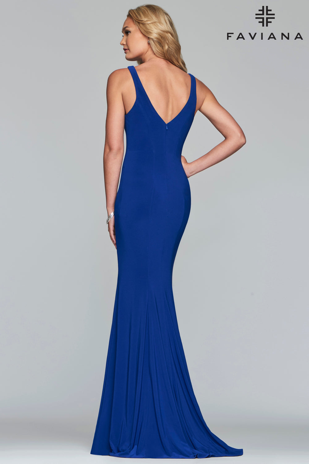 Fitted V-Neck Gown