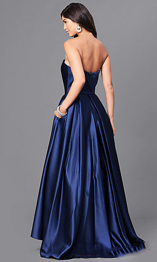 Strapless Hi-Low Ball Gown-R