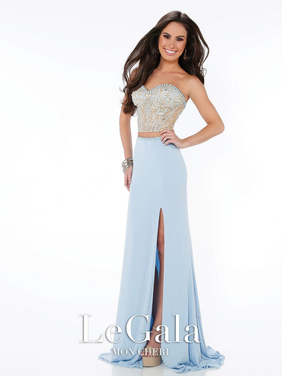 Strapless Two-Piece Gown
