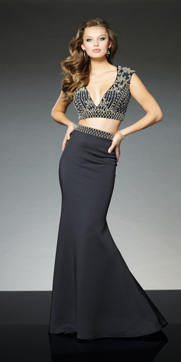 Beaded Two-Piece Gown