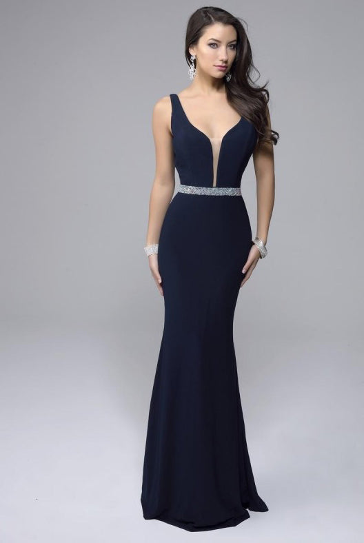 Plunging Fitted Gown