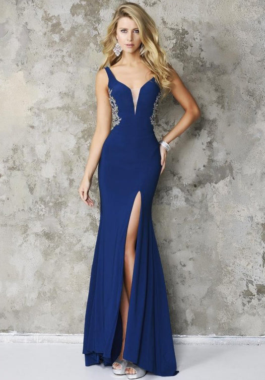 Side Embellished Gown