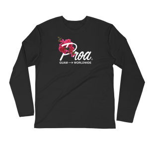 Bougainvillea Long Sleeve (Black)