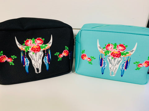 Small Bull Skull Travel Case