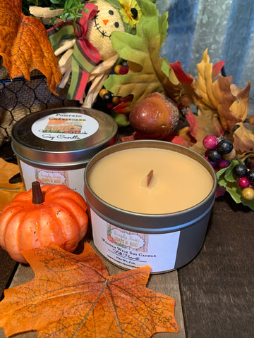 Fall Wooden Wick Candle