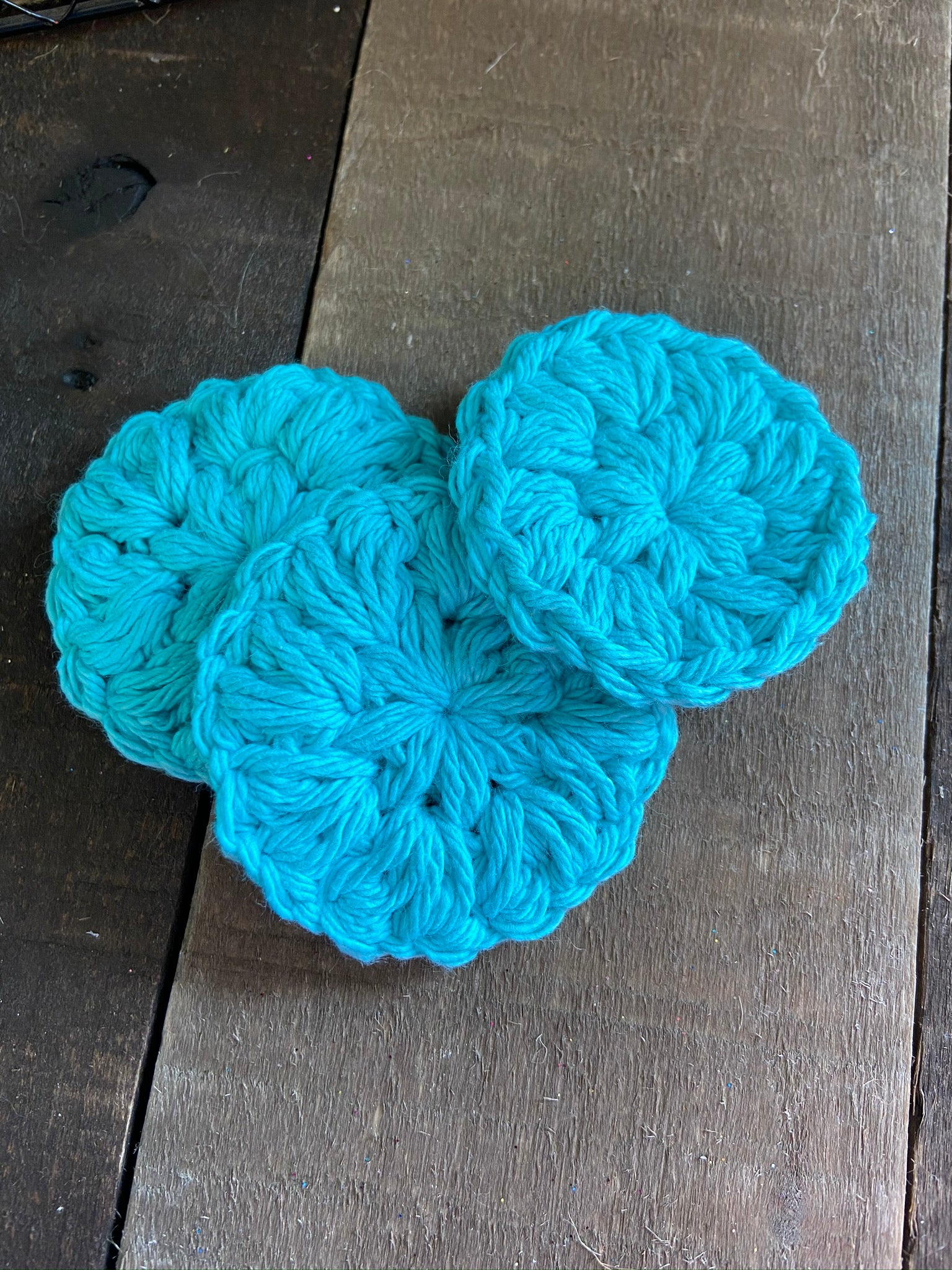 Crochet Face Poofs