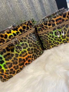 Metallic Leopard Hard Travel Case