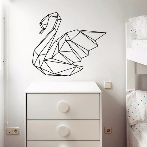 Decal - Geometric swan - Gifts for lovers of All Things with Wings
