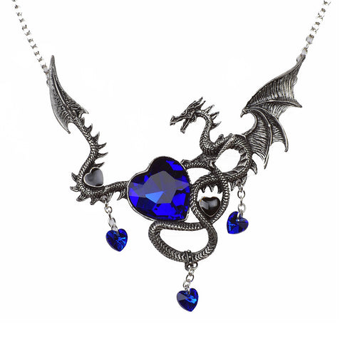 Necklace - Heart-slaying dragon - Gifts for lovers of All Things with Wings