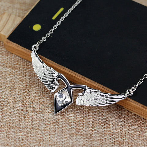 Necklace - Freedom's wings biker chick - Gifts for lovers of All Things with Wings
