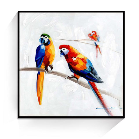 Oil Painting - Large parrots - Gifts for lovers of All Things with Wings