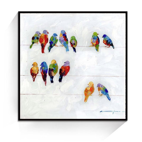 Oil Painting - Flock of birds - Gifts for lovers of All Things with Wings