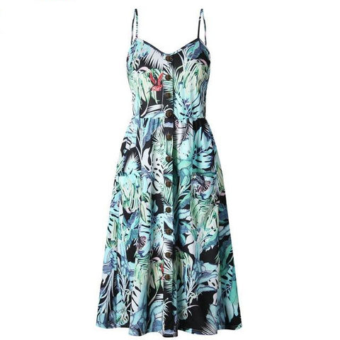 Summer Hummingbird Dress