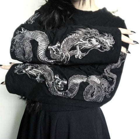 Goth style dragon top