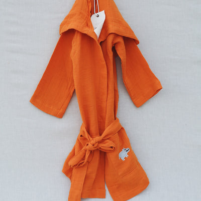 ORANGE HİPPO BATHROBE