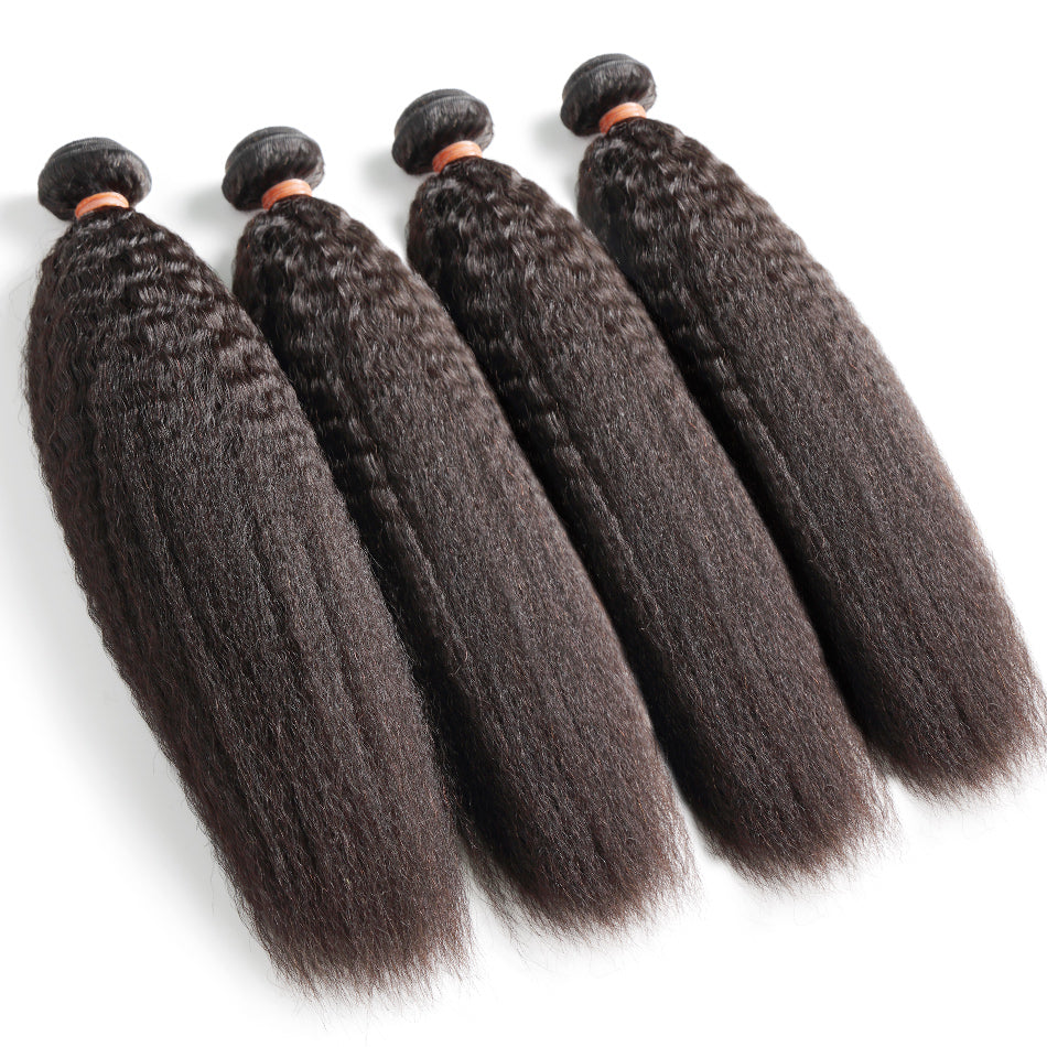Gobes Hair Kinky Straight Hair Bundles Brazilian Hair Weave Bundles