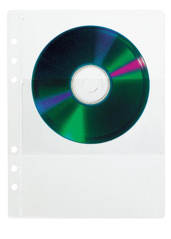Transparent cover for 2 CD's (5 pieces)