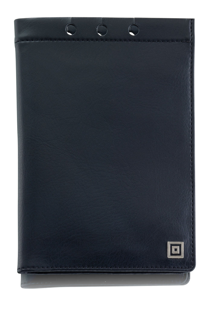 Leatherette cover for pocket diary, black