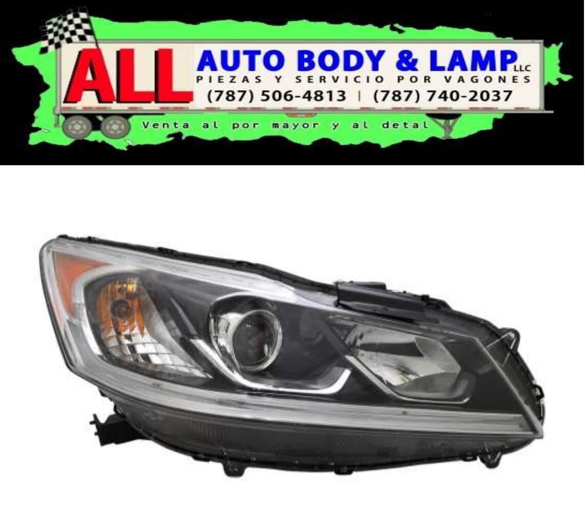 HONDA ACCORD 16-17 HEAD LAMP RH HALOGEN W / O / DRL