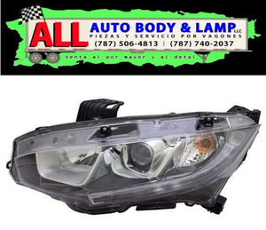 HONDA CIVIC 16-17 HEAD LAMP LH HALOGEN SEDAN