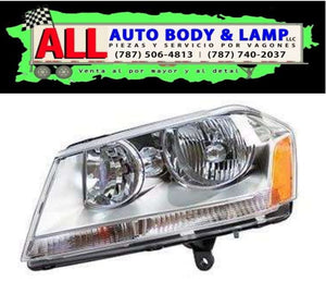 DODGE AVENGER 08-14 HEAD LAMP LH CHROME { SE,SXT ]