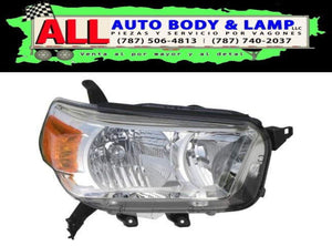 TOYOTA 4RUNNER 10-13 HEAD LAMP RH CHROME W / O / TRAIL PKG LIMITED