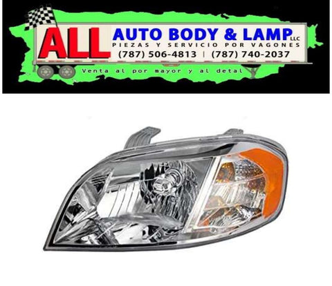 CHEVROLET AVEO 07-12 HEAD LAMP LH 4PTA