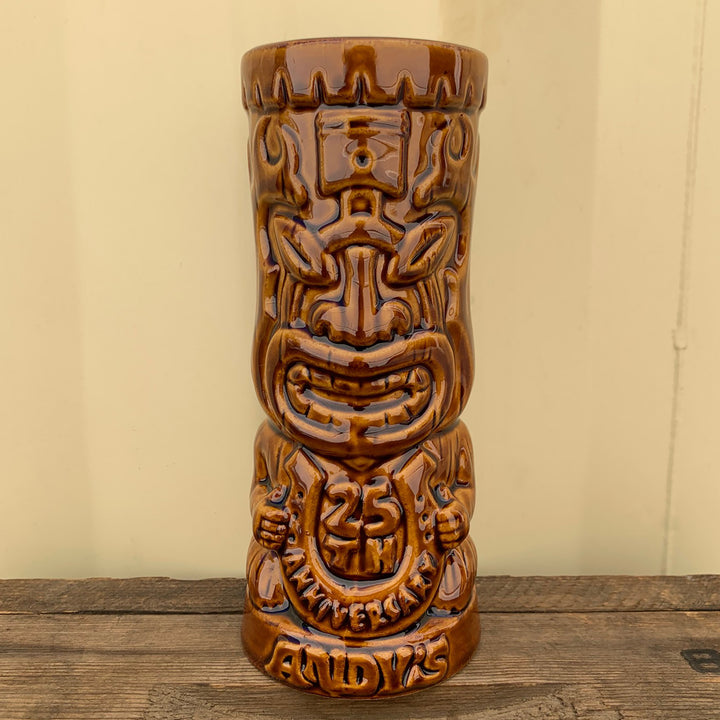 Andy's Place 25th Anniversary Tiki Mug, Brown - Treasure Chest Item