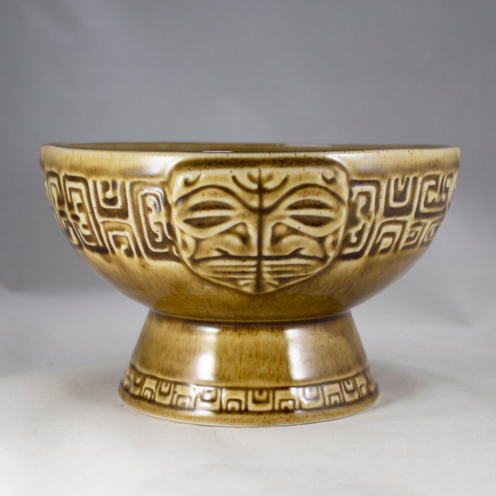 'Eka'eka Marquesan Bowl, Rustic Brown