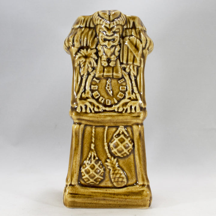 Ku Ku Clock Tiki Mug, Honey Golden Brown