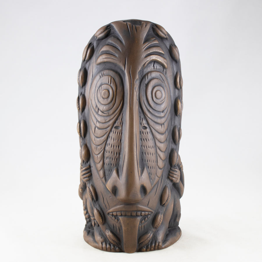 Lukluk Tiki Mug, Jungle Brown