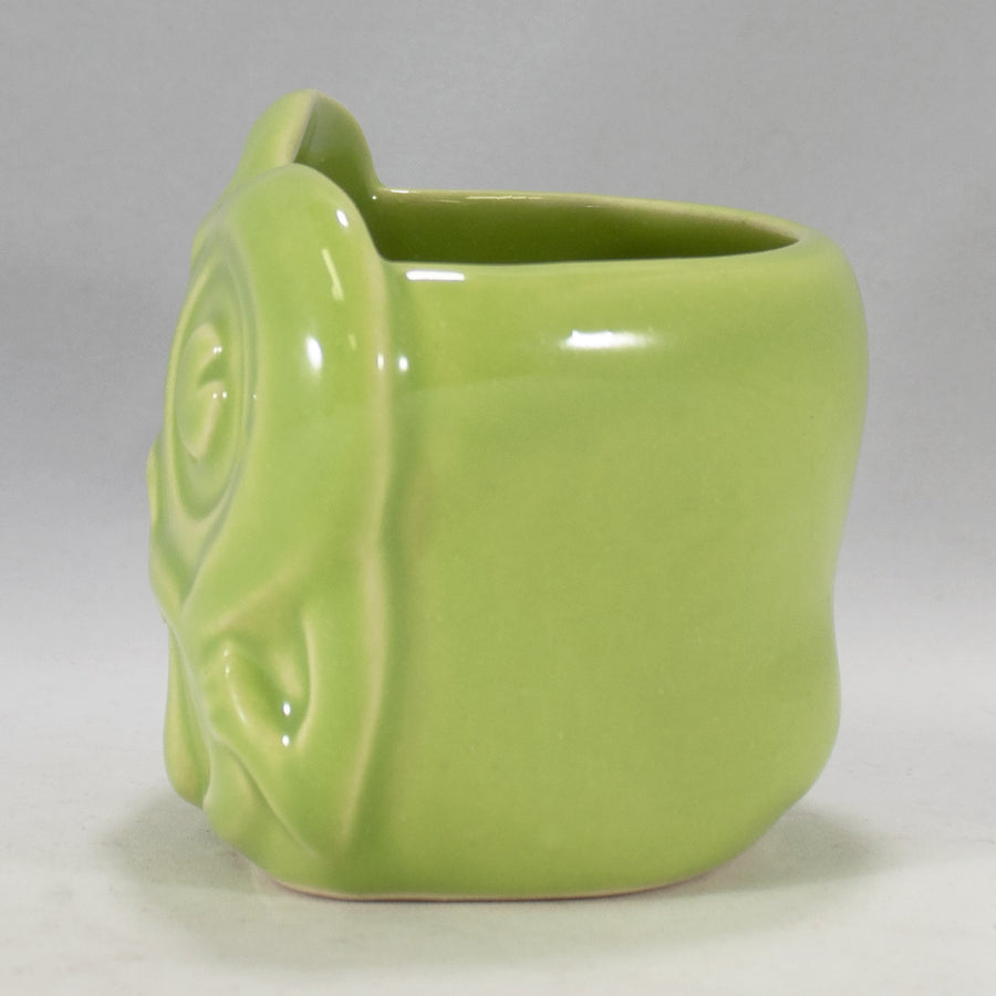 Minky Monkey Head Mug, Bright Jungle Green