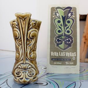 Viva Las Vegas 23 Tiki Mug, Brown with signed & numbered COA by Joe Vitale