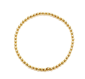 3MM GOLD BEAD BRACELET