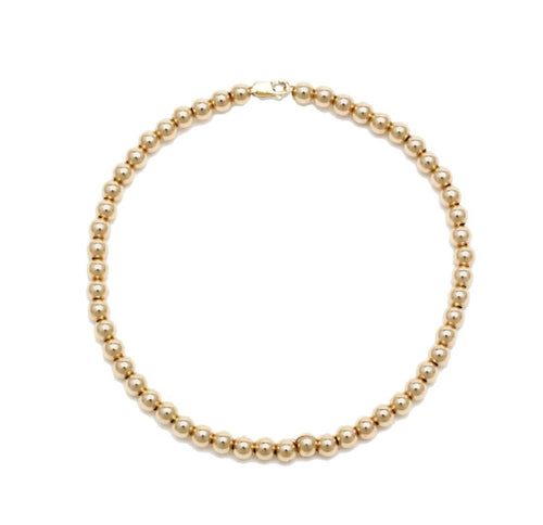 4MM BEAD BALL ANKLET