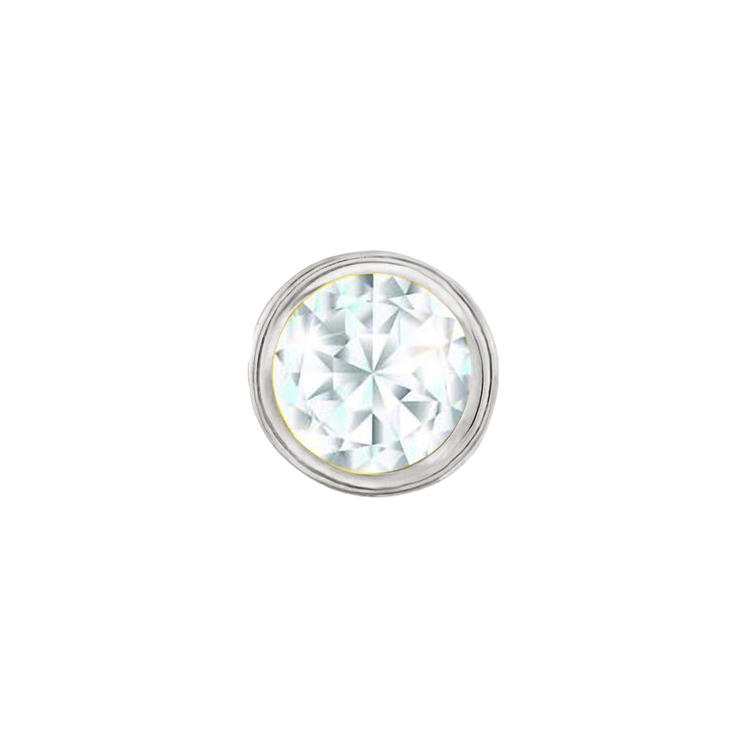 SKINNY SILVER APRIL CHARM(WHITE)
