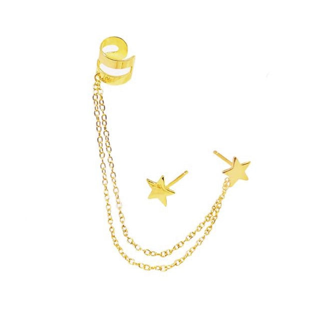 STAR CHAIN EAR CUFF