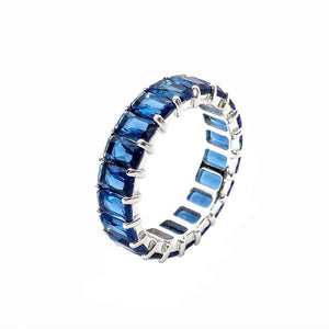 COLORED ETERNITY BANDS