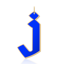 Load image into Gallery viewer, 14K ENAMEL GOTHIC LETTER CHARM