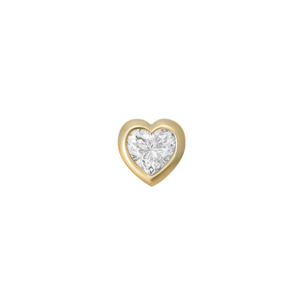 FANCY HEART CHARM (YELLOW)