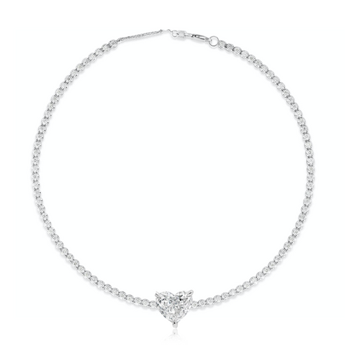 14K FANCY SHAPE TENNIS BRACELET